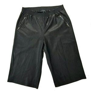 NWOT Eloquii Plus Size Faux Leather Capri